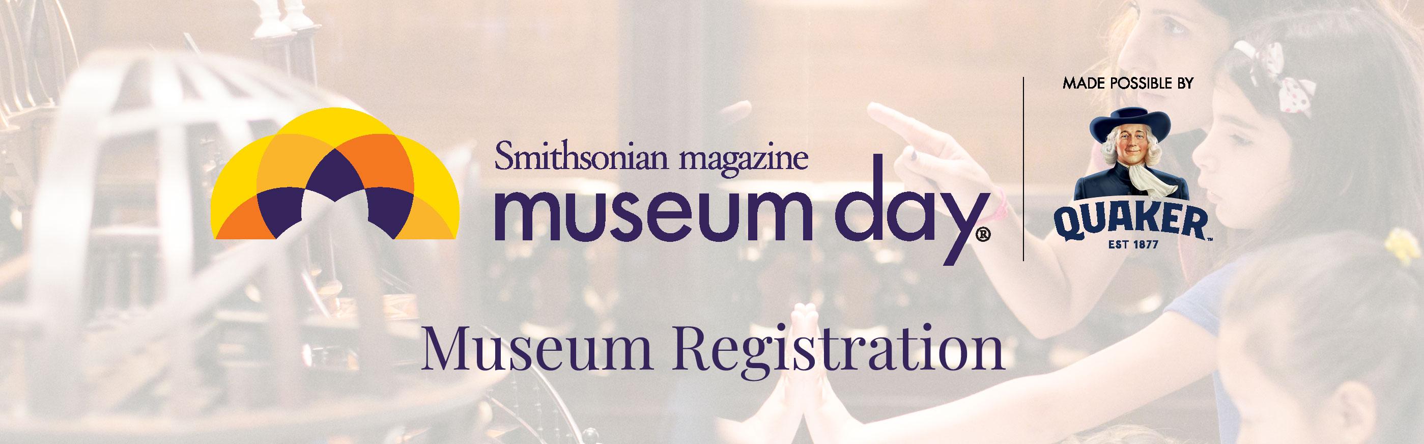 Museum Day registration banner